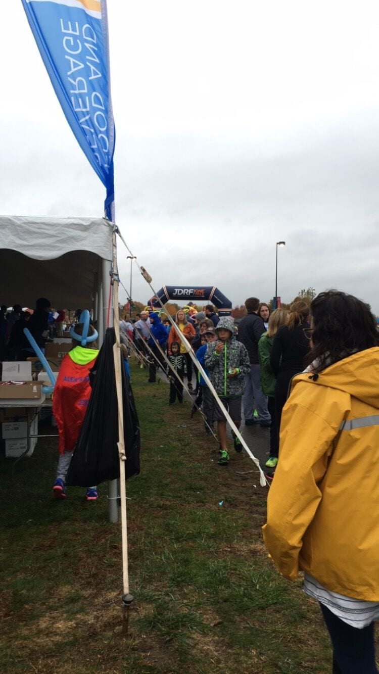 rainy day JDRF walk